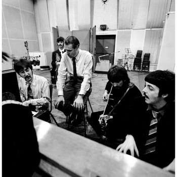 martin with beatles